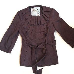 Anthropologie Tabitha Foliage Finders Jacket